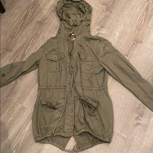 Forever 21 Love 21 Olive Green Utility Jacket